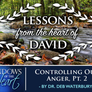 Lessons from the Heart of David, Controlling Our Anger, Part 2